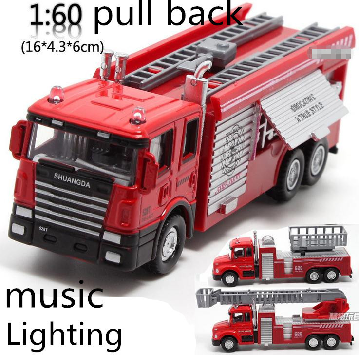 Гаджет  Free shipping ! 1 : 60 alloy pull back Sound and light Fire engine toy model,Classic Toys,Children