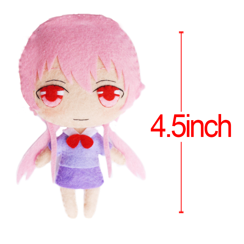 "Anime Future Diary Gasai Yuno Charlotte Tomori Nao DIY Plush Doll Stuffed Toy 4.5"" Soft Stuffed Toy Children Gift High Quality(China (Mainland))"
