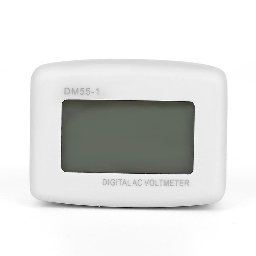 Eu Dm55 1 110/220v Household In Lcd Digital Ac 80 300v Voltmeter ...