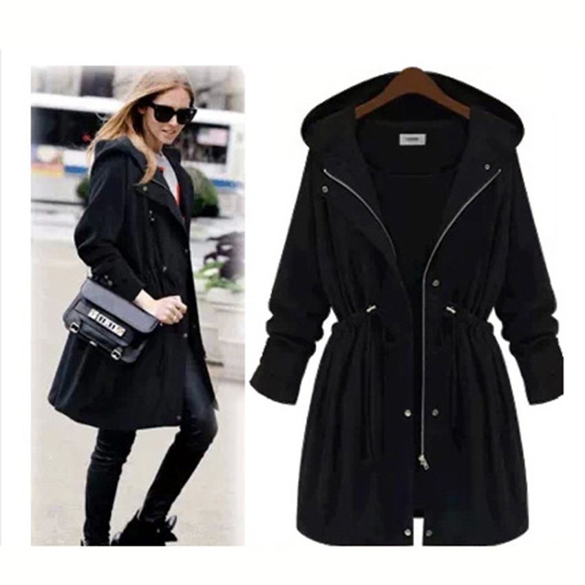 2015 new large size women in Europe and America windbreaker  fall and winter attractive charming elegant cute trenchОдежда и ак�е��уары<br><br><br>Aliexpress