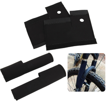 1Pair Mountain Road Bike Cycling MTB Front Frame Fork Wrap Protective Covers Guard Protector Black(China (Mainland))