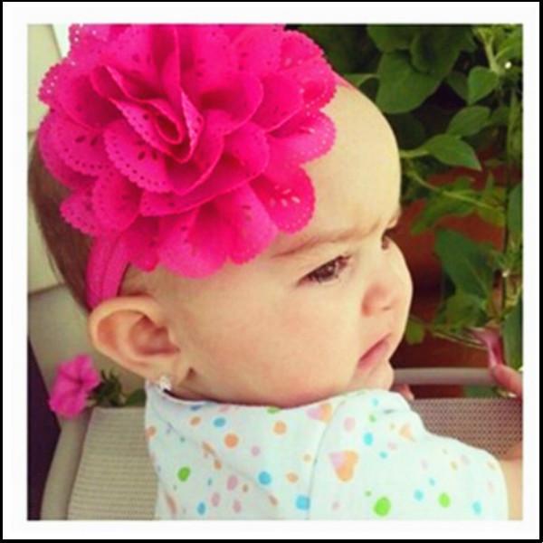 2015 Girl's Head Accessories hairband Baby Headband flower princess headband elastic flower hairband free shipping(China (Mainland))