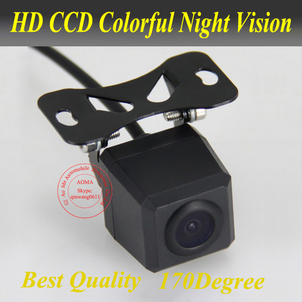 Free shipping! HD Rear View CCD night vision car reverse camera auto license plate light camera universal car camera(China (Mainland))