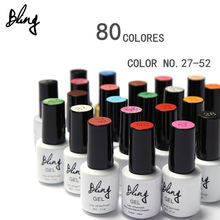 80 Colors UV Nail Gel Polish Len  Long lasting soak-off Varnish cheap Manicure  UV&LED 6ml 1Pcs Summer Hot Bling Nail Gel
