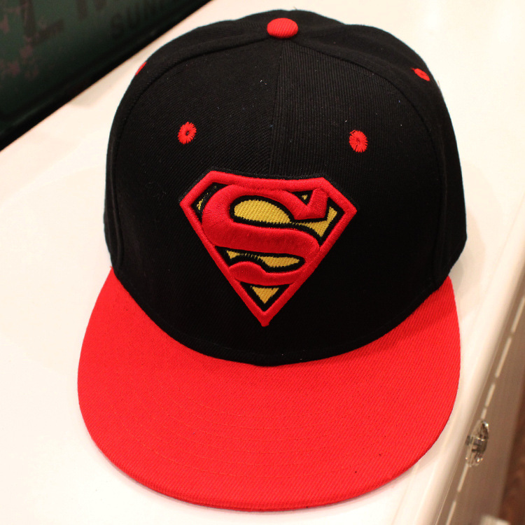 Hot Movie superman Cosplay Cap Novelty cartoon Red black Man of Steel ladies dress mans Hat charms Costume Props Baseball cap(China (Mainland))
