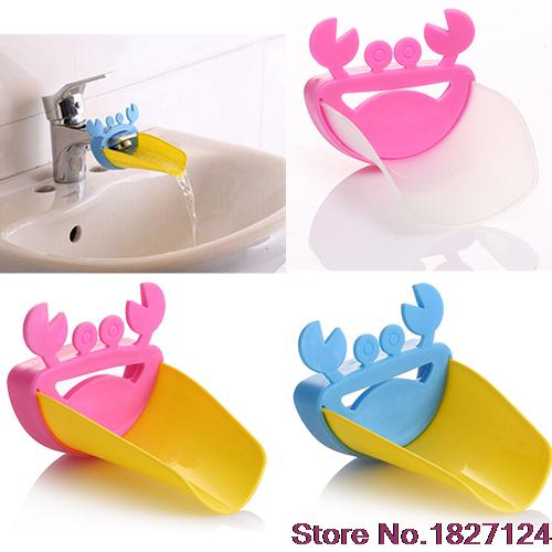 2015 Popular Style Cute Bathroom Water Faucet Extender For Kid Hand Washing Child Gutter Sink Guide