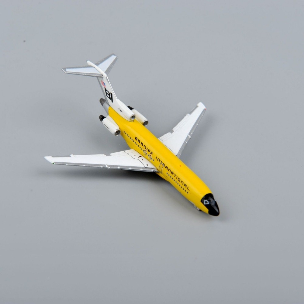 Inflight500 Boeing 727-100 Brrniff International 1:500 Scale Yellow Diecast Airplane Model Aircraft Airliner Model Kids Toys D(China (Mainland))