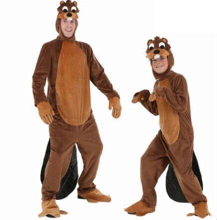 adult beaver costume mens beaver coat for children beaver animals costumes animal cosplay(China (Mainland))