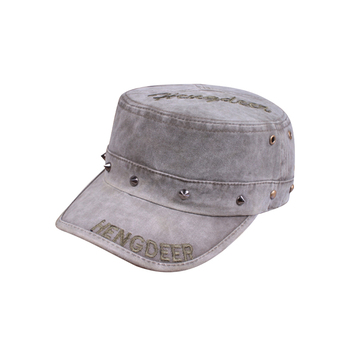 Hot-selling olive ash single row rivet women's hat cowboy hat fashion brief casual cap