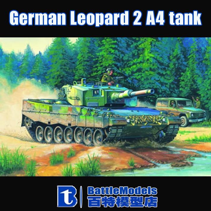 Hobby Boss MODEL 1/35 SCALE military models #82401 German Leopard 2 A4 tank plastic model kit(China (Mainland))