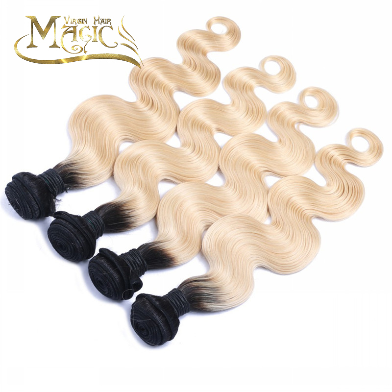 Dark Root Bleached Ombre 2 Tone Malaysian Hair Virgin Body Wave 1b 613 Ombre Hair Weave 4 Bundles Lot Free Shipping<br><br>Aliexpress