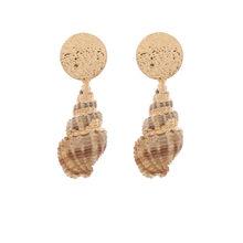 CWEEL Shell Ohrringe für Frauen 3 Pairs Sets Sommer Hochzeit Erklärung Schmuck Korean Fransen Tropfen Ohrringe(China)