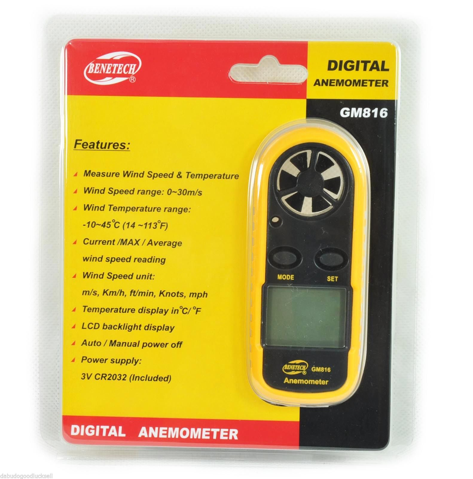 LCD Pocket Smart Anemometer Air Wind Speed Scale Meter Measure Velocity GM816 Free shippingFree Shipping