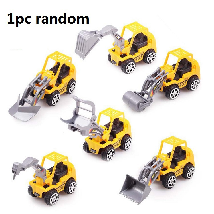 2pcs Yellow Color Toy Truck Models Mini Toys Construction Trucks For Kids Children Play Gift Toys(China (Mainland))