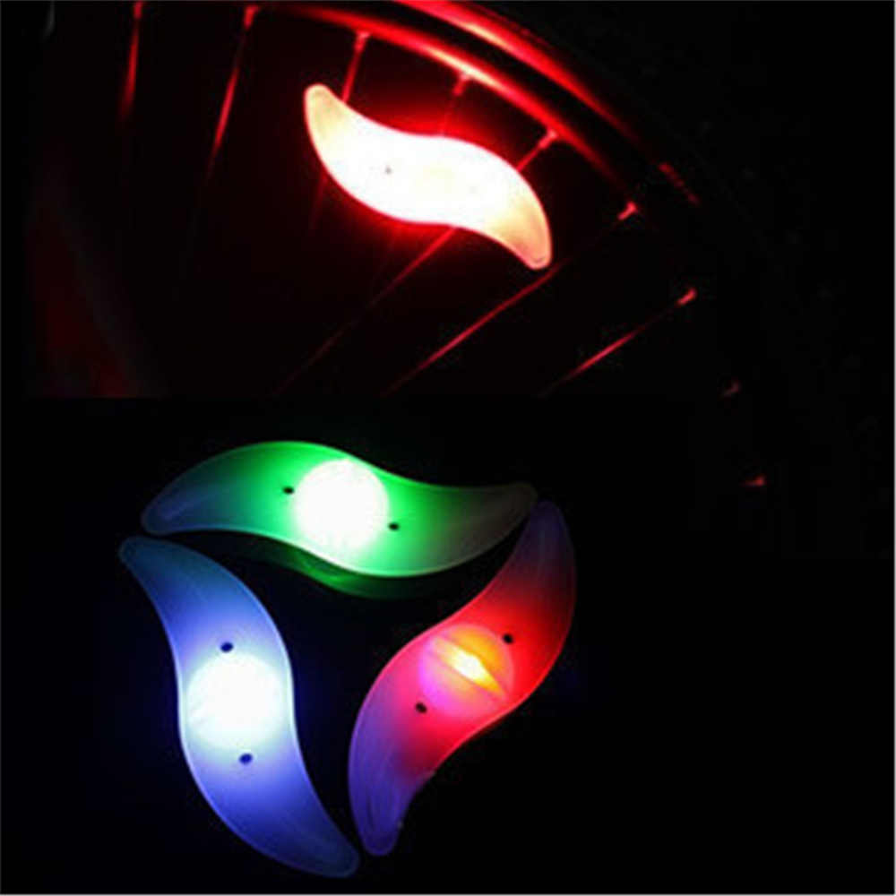 Mixed color Bicycle Spoke bright light Cycling Wheel LED Bright Lamp flashlight bike led tail light Cycling Wheel Tire Wire Tyre(China (Mainland))