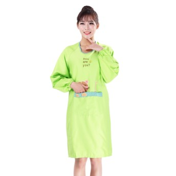 Apron gown cute aprons Korean style fashion cartoon kitchen aprons long-sleeved advertisement apron can print logo(China (Mainland))