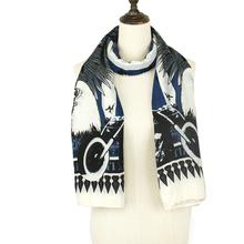 2015 New Spring&Summer Woman Scarf Owl Pattern Pashmina&Shawls Brand Feather Decorated Bandana Woman Wholesale Accessory(China (Mainland))