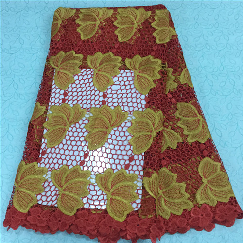 african cord lace latest 2015 high quality french guipure lace fabric for nigerian lace fabrics 5yards MJKY0302A