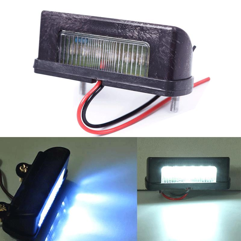 12V LED Number Licence Plate Light Rear Tail Lamp Truck Trailer Lorry White #63588(China (Mainland))