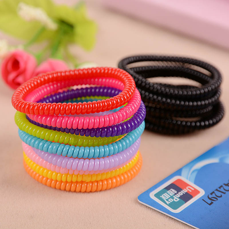Caterpillars telephone line hair ring High toughness first lap Free shipping(China (Mainland))