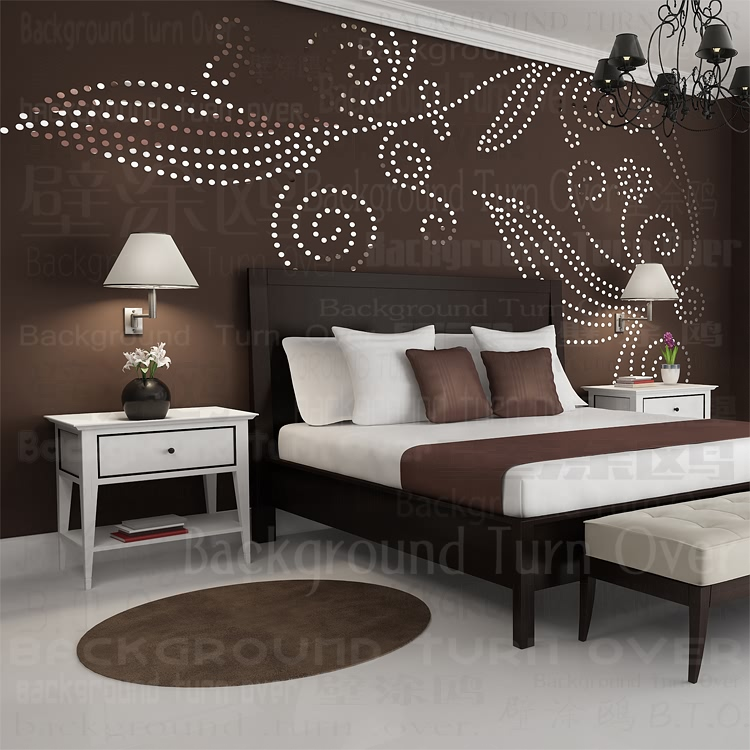Diy Plant Tree Pattern Round Dot 3d Wall Sticker Home