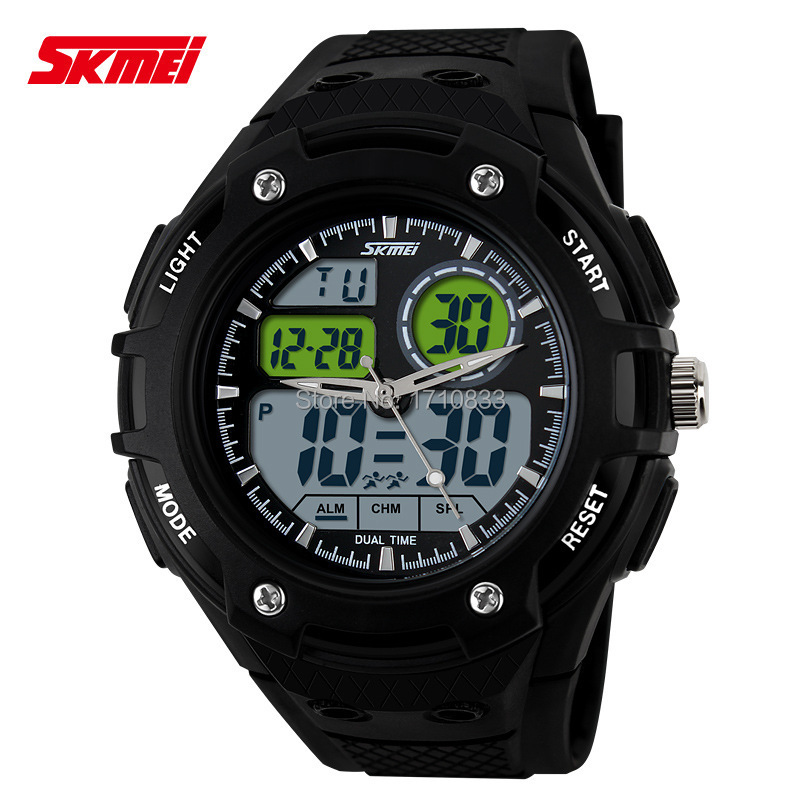 2015 top brand leather straps large face men's quartz digital wristwatch new luxury fahsion&casual sports 50m waterproof watch(China (Mainland))