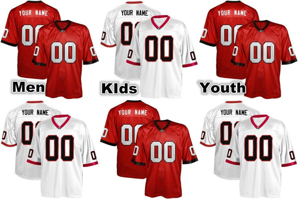 Customized Georgia Bulldogs Jersey College Custom Made Men Women Kid Fotball Jersey Stitched New Arrival Hot Sale(China (Mainland))