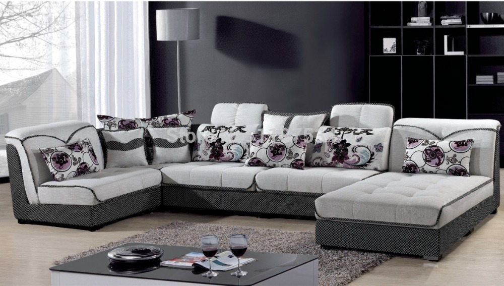 8328 living room sofa sets fabric soft corner sofa sets