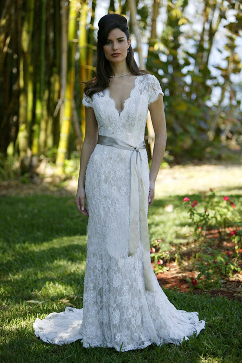 gowns court train wedding gowns with satin ribbons in wedding dresses