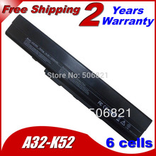 6Cells Replacement Laptop Battery For Asus K42 K52 k52j A31-K52 A32-K52 A41-K52 A42-K52 B53 A31-B53 11.1V 5200MAH(China (Mainland))