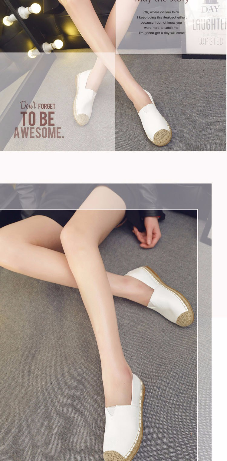 2016 Spring Fall Women Shoes Flat Shoes White Black Gold Loafers Shoes a Pedal Lazy Single Shoes For Women  ZK3.5