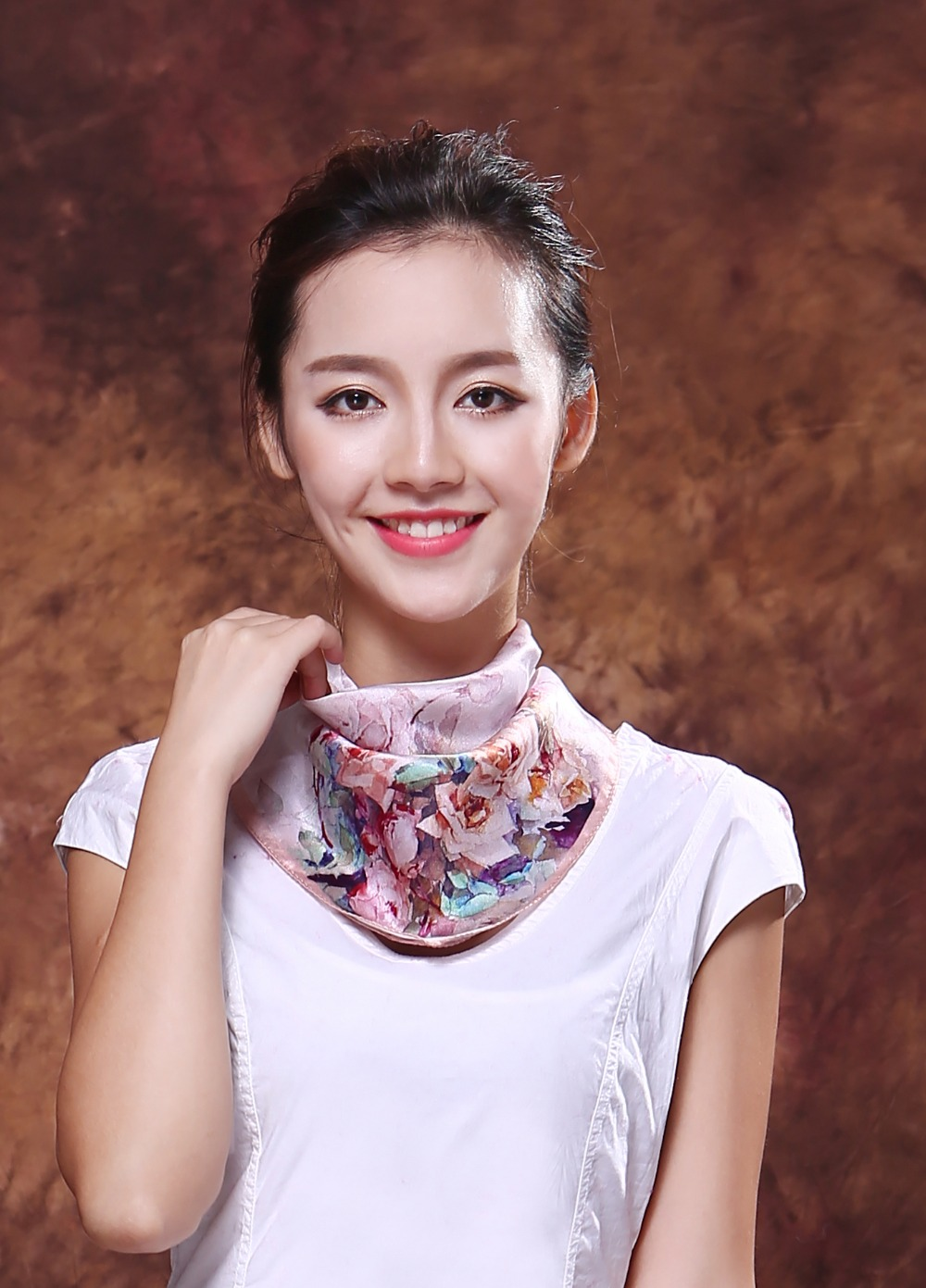 Free Shipping Top quality 100% silk scarf Pure Silk Scarves Fashion Brand Small Square Scarf Printed 53*53cm For women(China (Mainland))
