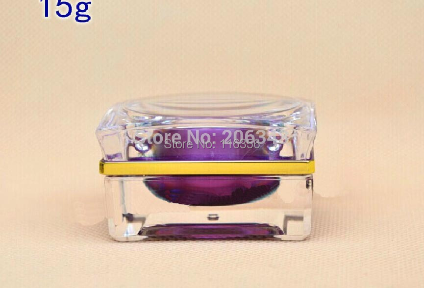 15g purple patels shape acrylic cream bottle,eyecream jar,Cosmetic Jar,Cosmetic Packaging - all packing you want store