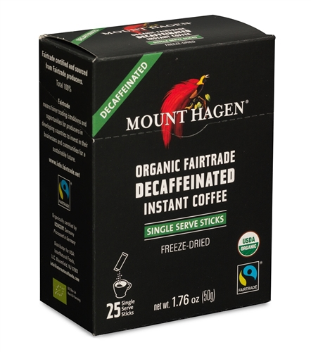 Instant coffee imported Mount Hagen freeze dried organic pure black cook instant coffee free shipping