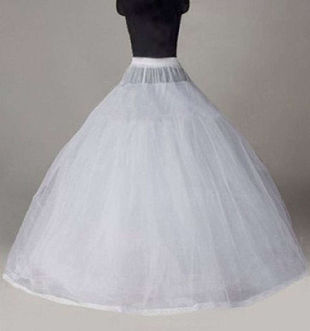 In stock free shipping crinoline tulle underskirt for Tulle petticoat for wedding dress