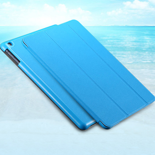Three Fold Stand Support Leather Flip Case For iPad mini 1 2 3 Retina Protective Shell