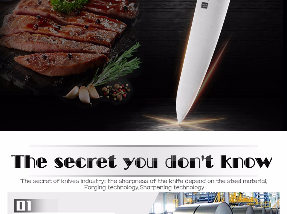 Buy XINZUO 8 inch butcher knife 3-layer 440C clad steel chef knife kitchen knives chef's knives G10 handle free shipping cheap