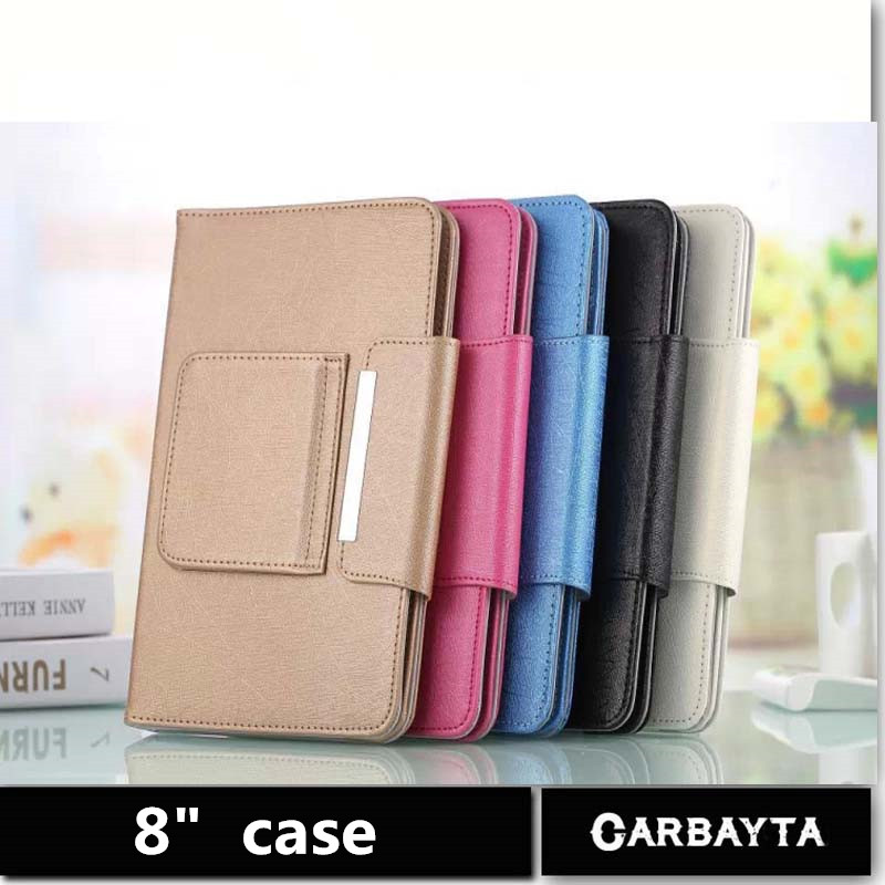 Hot Selling Super Deal 1PC Universal High quality PU Leather Stand Cover Case For 8 Inch Tablet PC general cover 5 Color(China (Mainland))