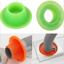 2pcs Sewer pipe Pest control anti-odor Deodorant silica gel seal ring washing machine pool floor drain sealing plug(China (Mainland))