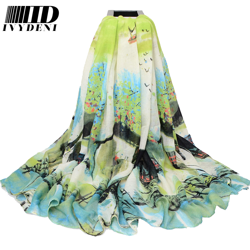 180*110cm 2016 New Women Large Cotton Head Scarves Chinese Silk Scarves Long Voile Scarf Shawl Summer Beach Cover Up Pareo(China (Mainland))