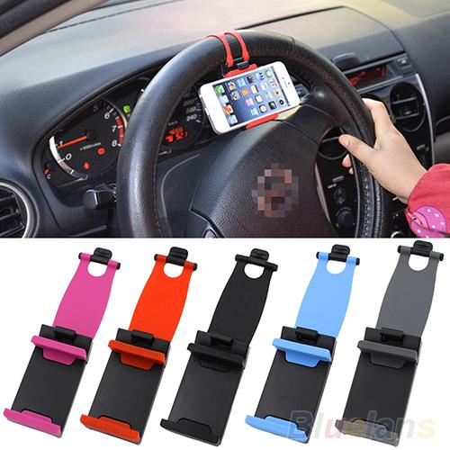 niversal Car Steering Wheel Bike Clip Mount Holder For iphone Phone Samsung GPS 2M71(China (Mainland))
