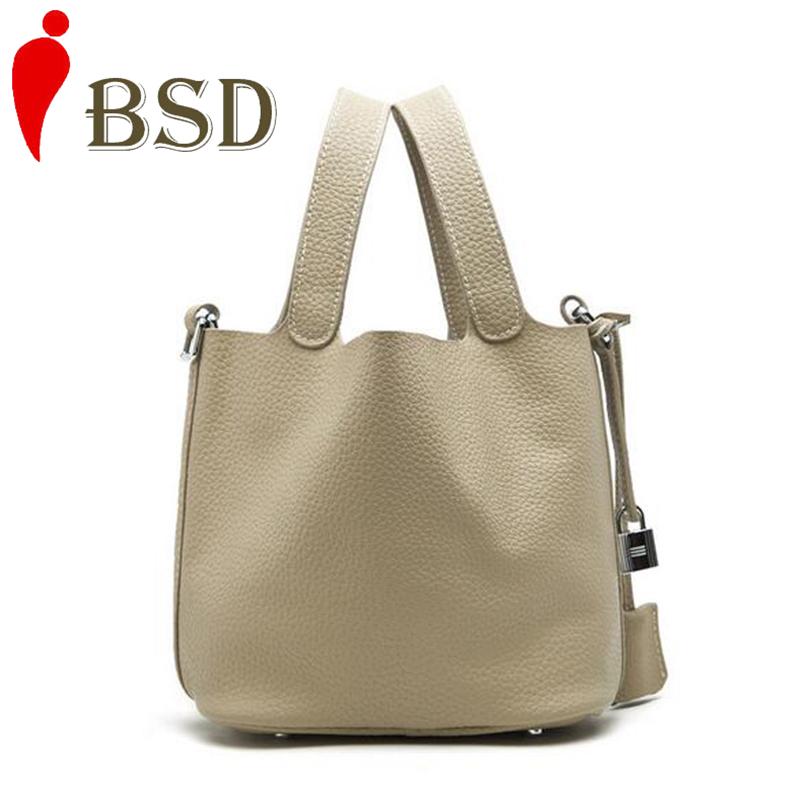 2016 Genuine leather bag luxury handbags women bags designer bucket bag dollar price famous brands evening clutch bags Lock bag<br><br>Aliexpress