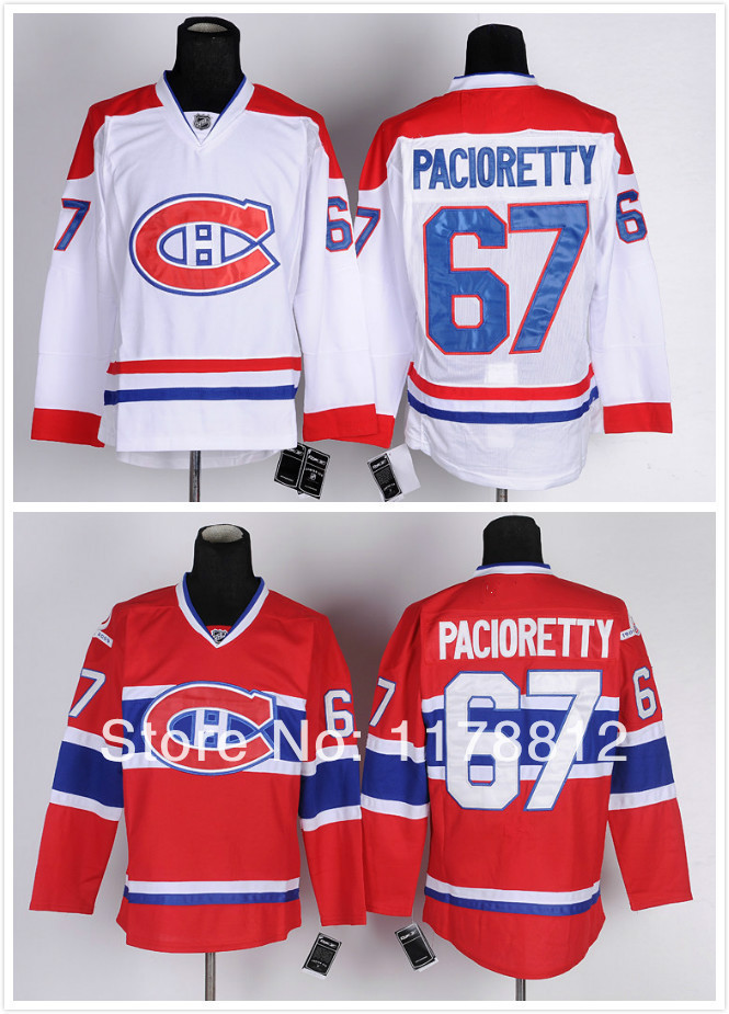 Max Pacioretty Jersey #67 Red White 2014 montreal canadiens jersey Ice Hockey Jersey Polyester knit rib collar Embroidery logos<br><br>Aliexpress