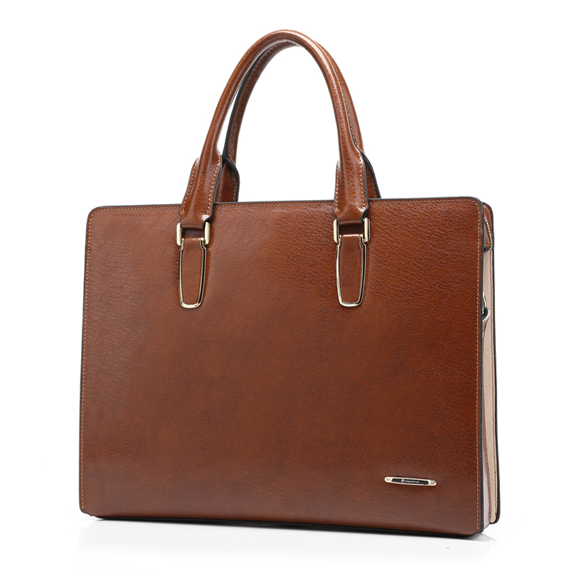 Business Man Dress Shoulder genuine Leather Tote Bag Men's Shoulder Bags Small Messenger Travel Bags Briefcases free shipping(China (Mainland))