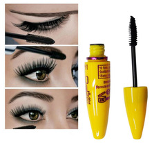 Free Shipping 1PC Fashion Yellow Leopard Colossal Mascara Volume Express Makeup Curling Waterproof Eyelashes MK0019