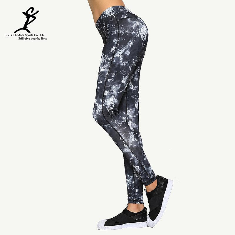 Women Sports Digital Printing Running Legging Professional Push Up Yoga And Fitness Tights Hot Breathable Jogging Pants(China (Mainland))