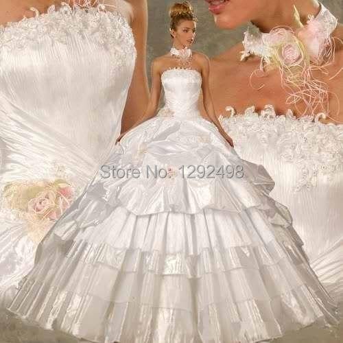 summer new 2015 white ivory wedding dress bridal gown