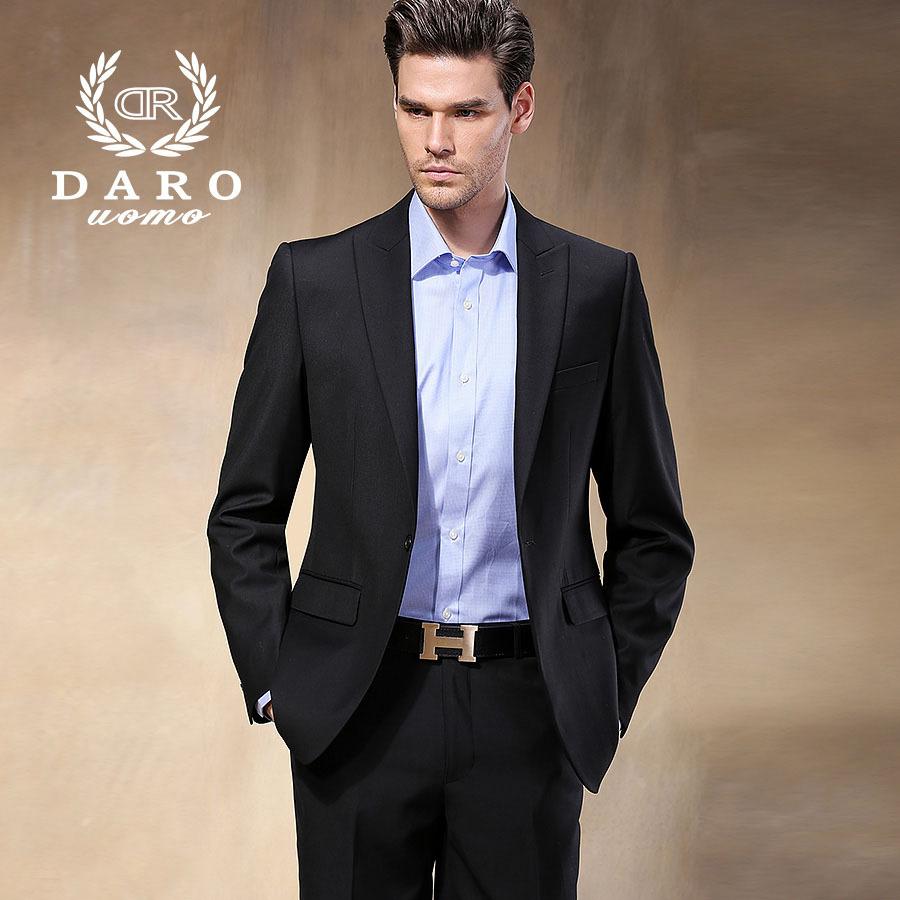 Brand darouomo 2016 new men blazer suit wedding business for Blazer with dress for wedding