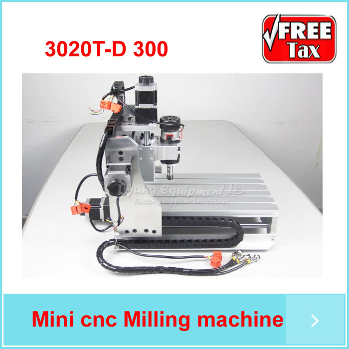 No taxes Russia ! mini desktop router cnc drilling milling cuttting machine CNC 3020t-D300 with ball screw and 300W spindle(China (Mainland))