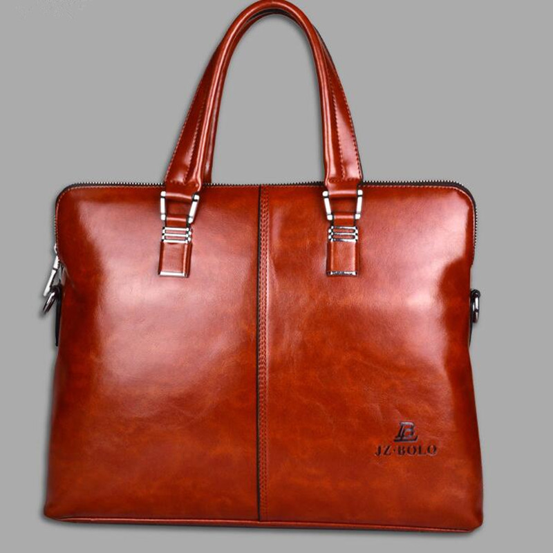 The new high-end mens leather portable&amp;diagonal business bag<br>